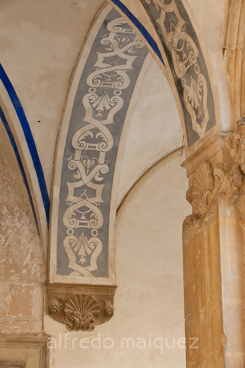 College of Santo Domingo cloister detail (former University), Orihuela. Alicante province, Spain
