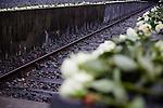 15.10.2015, Berlin. Gedenkstätte GLEIS 17. Zur Erinnerung an die erste Deportation jüdischer Bürgerinnen und Bürger Berlins in die nationalsozialisitischen Vernichtungslager 1941 laden die Ständige Konferenz der Leiter der NS-Gedenkorte im Berliner Raum, der Berliner Senat, die Jüdische Gemeinde zu Berlin und die Deutsche Bahn zur Gedenkveranstaltung am Denkmal »Gleis 17«