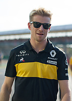 NICO HULKENBERG (GER) of Renault Sport Formula One Team during The Formula 1 2018 Rolex British Grand Prix at Silverstone Circuit, Northampton, England on 8 July 2018. Photo by Vince  Mignott.