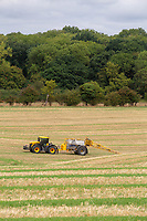 Contractors applying liquid nitrogen to stubble<br /> &copy;Tim Scrivener Photographer 07850 303986<br />      ....Covering Agriculture In The UK....