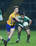 Keelan Sexton of Clare  in action against Adam Kearns of Limerick during the Mc Nulty Cup U-21 final at The Gaelic Grounds. Photograph by John Kelly.