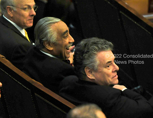 United States Representatives Charlie Rangel (Democrat of New New York) and Peter King (Republican of New York) sit together as President Barack Obama delivers his State of the Union Address to a Joint Session of Congress in the U.S. Capitol in Washington, D.C. on Tuesday, January 25, 2011..Credit: Ron Sachs / CNP.(RESTRICTION: NO New York or New Jersey Newspapers or newspapers within a 75 mile radius of New York City)