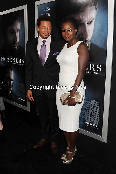 BEVERLY HILLS, CA- SEPTEMBER 12: Actors Terrence Howard (L) and Viola Davis arrive at the 'Prisoners' - Los Angeles Premiere at the Academy of Motion Picture Arts and Sciences on September 12, 2013 in Beverly Hills, California.<br /> Credit: Mayer/face to face<br /> - No Rights for USA, Canada and France -