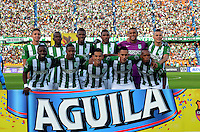 MEDELLIN-COLOMBIA, 10-07-2016. Formación  del Atlético Nacional  contra  Jaguares FC durante encuentro  por la fecha 2 de la Liga Aguila II 2016 disputado en el estadio Atanasio Girardot./  Team of Atletico Nacional against of Jaguares FC  during match for the date 2 of the Aguila League II 2016 played at Atanasio Girardot stadium . Photo:VizzorImage / León Monsalve / Contribuidor