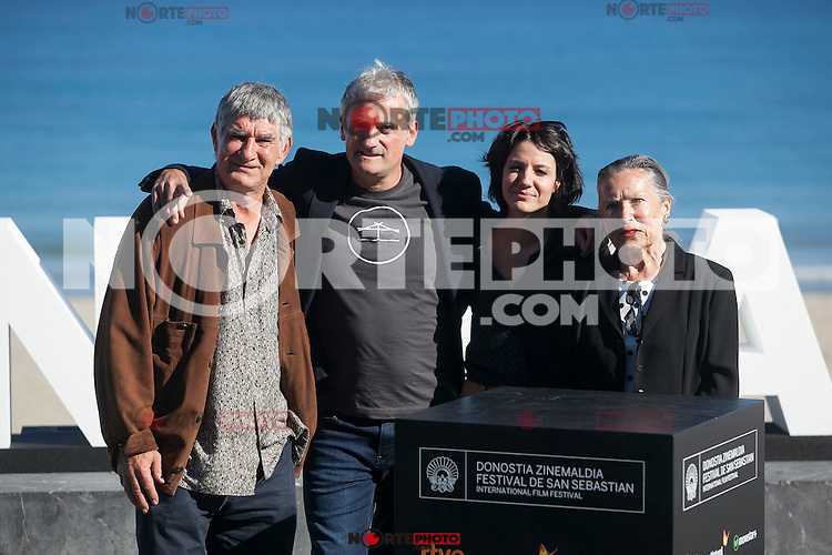 Director Asier Altuna and actors Iraia Elias, Kandido Uranga and Amparo Badiola pose during `Amama´ film presenation at 63rd Donostia Zinemaldia (San Sebastian International Film Festival) in San Sebastian, Spain. September 21, 2015. (ALTERPHOTOS/Victor Blanco) /NortePhoto.com