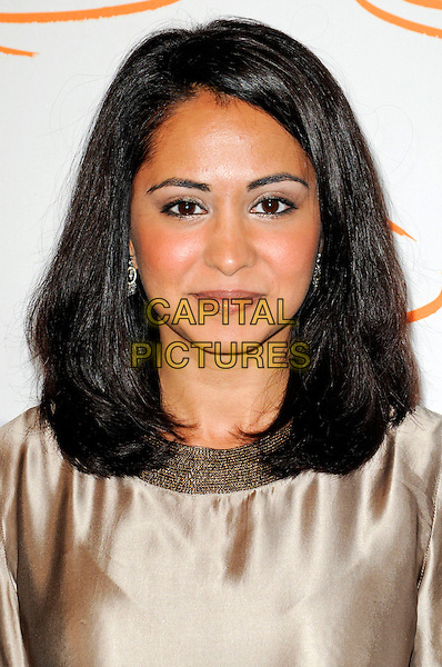 PARMINDER NAGRA.Lupus LA's 7th Annual Bag Ladies Luncheon to raise funds for lupus research at the Beverly Wilshire Four Seasons Hotel in Beverly Hills, California, USA..November 18th, 2009.headshot portrait beige silk satin gold .CAP/ROT.©Lee Roth/Capital Pictures