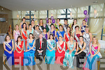 KERRY ROSES: The contestant who were going for the title the Kerry Rose 2013 at the Kerry Rose Selection on Friday night in Ballyroe Heights Hotel, Tralee with GM Mark Sullivan, Nicola McEvor (2012 Rose of Tralee) and Ann Marie Hayes (2012/13 Kerry Rose).