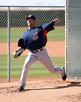 Zach Jackson  -  Cleveland Indians - 2009 spring training.Photo by:  Bill Mitchell/Four Seam Images