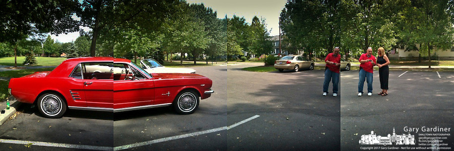 Red Ford Mustang with iPhone 3G2 and QuadCamera app.