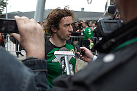 POLAND - Gdynia - 07 JUNE 2012 - Republic of Ireland Training Session at Gdynia. Stephen Hunt talking with the medias.