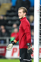 Goalkeeper Loris Karius of Liverpool ahead of the Premier League match between Swansea City and Liverpool at the Liberty Stadium, Swansea, Wales on 22 January 2018. Photo by Mark Hawkins / PRiME Media Images.