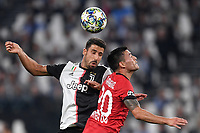 Sami Khedira of Juventus , Charles Aranguiz of Leverkusen <br /> Torino 01/10/2019 Juventus Stadium <br /> Football Champions League 2019//2020 <br /> Group Stage Group D <br /> Juventus - Leverkusen <br /> Photo Andrea Staccioli / Insidefoto