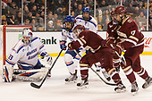 Tyler Wall (UML - 33), Tyler Mueller (UML - 7), Austin Cangelosi (BC - 9), David Cotton (BC - 17) The University of Massachusetts-Lowell River Hawks defeated the Boston College Eagles 4-3 to win the 2017 Hockey East tournament at TD Garden on Saturday, March 18, 2017, in Boston, Massachusetts.