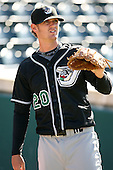 April 17, 2009:  Pitcher Justin Souza (20) of the West Tenn Diamond Jaxx, Southern League Class-AA affiliate of the Seattle Mariners, during a game at the Baseball Grounds of Jacksonville in Jacksonville, FL.  Photo by:  Mike Janes/Four Seam Images