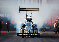 Feb 2, 2018; Chandler, AZ, USA; NHRA top fuel driver Tony Schumacher during Nitro Spring Training pre season testing at Wild Horse Pass Motorsports Park. Mandatory Credit: Mark J. Rebilas-USA TODAY Sports