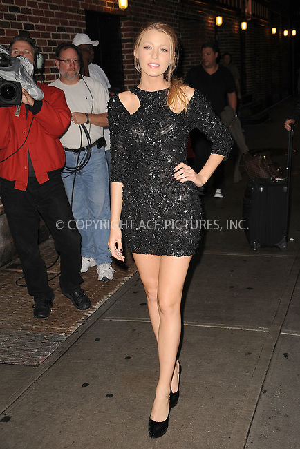 WWW.ACEPIXS.COM . . . . . .September 27, 2010, New York City...Blake Lively tapes the Late Show with David Letterman on September 27, 2010 in New York City....Please byline: KRISTIN CALLAHAN - ACEPIXS.COM.. . . . . . ..Ace Pictures, Inc: ..tel: (212) 243 8787 or (646) 769 0430..e-mail: info@acepixs.com..web: http://www.acepixs.com .