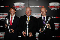 IMSA WeatherTech SportsCar Championship<br /> Night of Champions<br /> Road Atlanta, Braselton GA<br /> Monday 9 October 2017<br /> GTLM Champions Antonio Garcia, Gary Pratt, Jan Magnussen<br /> World Copyright: Michael L. Levitt<br /> LAT Images