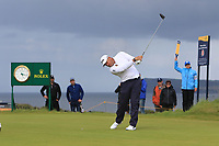 Lee Westwood (ENG) during 1st round of the 148th Open Championship, Royal Portrush golf club, Portrush, Antrim, Northern Ireland. 18/07/2019.<br /> Picture Thos Caffrey / Golffile.ie<br /> <br /> All photo usage must carry mandatory copyright credit (© Golffile | Thos Caffrey)