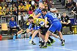#6 Drago Vukovic von Gummersbach gegen Rhein Neckar Loewe Jannik Kohlbacher (Nr.80)  beim Spiel in der Handball Bundesliga, Rhein Neckar Loewen - VfL Gummersbach.<br /> <br /> Foto &copy; PIX-Sportfotos *** Foto ist honorarpflichtig! *** Auf Anfrage in hoeherer Qualitaet/Aufloesung. Belegexemplar erbeten. Veroeffentlichung ausschliesslich fuer journalistisch-publizistische Zwecke. For editorial use only.