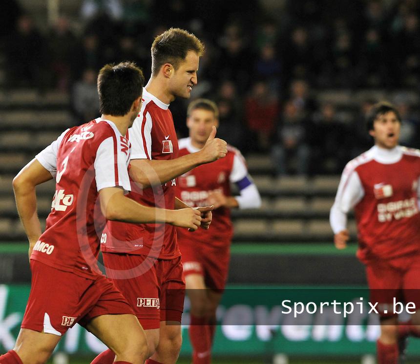 Cercle Brugge KSV - KV Kortrijk : vreugde bij Dalibor Veselinovic na zijn doelpunt.foto VDB / BART VANDENBROUCKE