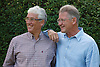 Middle-aged gay couple. Cleared for AIDS, HIV, STDs, sexual and health issues.
