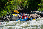 Bucking Rainbow Outfitters crashing Cable Rapid while floating the Upper Colorado River from Rancho Del Rio to Two Bridges on the morning of August 8, 2014.