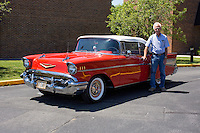1957 Trailered Modified Senior (#114) – 1957 Chevrolet Bel Air Convertible registered to Jerry Prince is pictured during 4th State Representative Chevy Show on Thursday, June 30, 2016, in Fort Wayne, Indiana. (Photo by James Brosher)