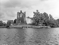 An old photo of Ross Castle, Killarney in the 1950's before restoration..Picture by Harry MacMonagle