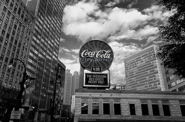 Coca-Cola Neon Sign located in Woodruff Parkin Atlanta Georgia December 26, 2016. ©Fitzroy Barrett