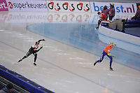 SPEEDSKATING: SOCHI: Adler Arena, 24-03-2013, Essent ISU World Championship Single Distances, Day 4, 500m Ladies, Kaylin Irvine (CAN), Margot Boer (NED), © Martin de Jong