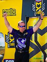May 6, 2018; Commerce, GA, USA; NHRA funny car driver Jack Beckman during the Southern Nationals at Atlanta Dragway. Mandatory Credit: Mark J. Rebilas-USA TODAY Sports