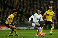 Axel Witsel of Borussia Dortmund and Son Heung-Min of Tottenham Hotspur during Tottenham Hotspur vs Borussia Dortmund, UEFA Champions League Football at Wembley Stadium on 13th February 2019