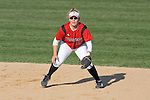 MADISON, WI - APRIL 17: Infielder Theresa Boruta #14 of the Wisconsin Badgers softball team plays defense against the University of Illinois-Chicago at Goodman Diamond on April 17, 2007 in Madison, Wisconsin. (Photo by David Stluka)