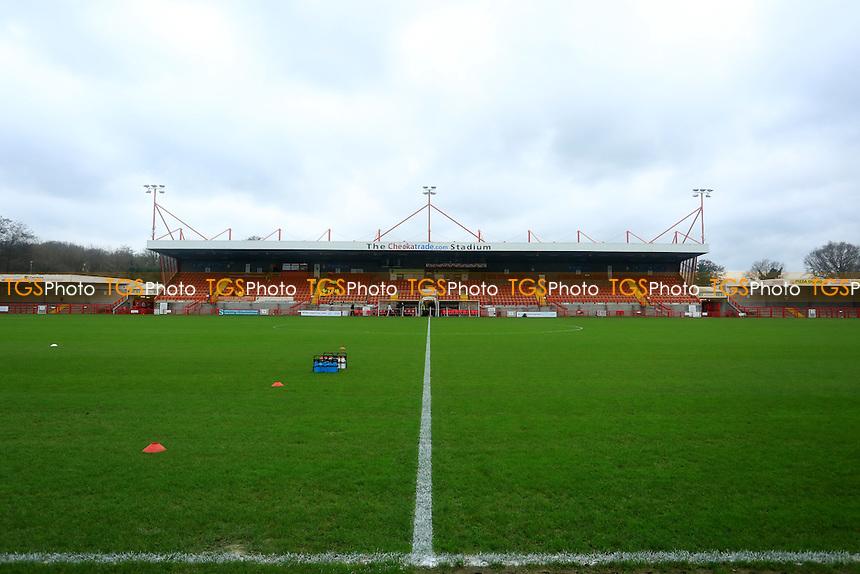 General view of The Checkatrade.com Stadium before kick of between  Crawley Town vs Stevenage, Sky Bet League 2 Football at Broadfield Stadium, Crawley, England on 26/12/2015