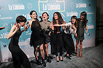 Actors MACARENA GARCÍA, LLUM BARRERA, CLAUDIA TRAISAC, ANNA CASTILLO, BELÉN CUESTA, GRACIA OLAYO, SOLE OLAYO, ANDREA ROS, RICHARD COLLINS-MOORE and ANGY FERNÁNDEZ attends La Llamada theater play in Madrid, Spain. April 15, 2015. (ALTERPHOTOS/Victor Blanco)