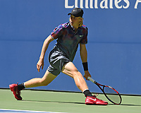 FLUSHING, NY- SEPTEMBER 01: ***NO NY DAILIES***  Denis Shapovalov Vs Kyle Edmond during the 2017 US Open at the USTA Billie Jean King National Tennis Center on September 1, 2017 in Flushing Queens. Credit: mpi04/MediaPunch