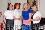 "Pamela Teehan,Geraldine Flynn,Edel Fitzgerald and Karen Fenix at the ""Fashion Fusion"" in aid of Duggan Family House fire Appeal in the Fels Point Hotel on Saturday"