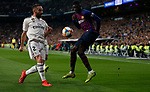 Real Madrid CF's Dani Carvajal and FC Barcelona's Ousmane Dembele during Spanish Kings Cup semifinal 2nd leg match. February 27, 2019. (ALTERPHOTOS/Manu R.B.)
