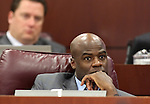 Nevada Assemblyman Kelvin Atkinson, D-North Las Vegas, listens in committee at the Legislature on Wednesday, May 18, 2011, in Carson City, Nev..Photo by Cathleen Allison