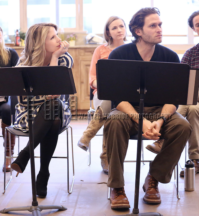 Kelli O'Hara and Steven Pasquale perform at the 'The Bridges of Madison County' Media Day at the New 42nd Street Studios on December 16, 2013 in New York City.
