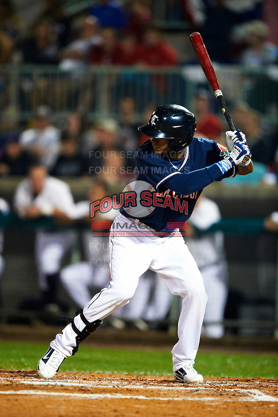 Connecticut Tigers outfielder Danry Vasquez #13 during the NY-Penn League All-Star Game at Eastwood Field on August 14, 2012 in Niles, Ohio.  National League defeated the American League 8-1.  (Mike Janes/Four Seam Images)