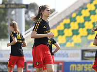 20190227 - LARNACA , CYPRUS :  Belgian Marie Minnaert pictured during a women's soccer game between the Belgian Red Flames and Slovakia , on Wednesday 27 February 2019 at the AEK Arena in Larnaca , Cyprus . This is the first game in group C for Belgium during the Cyprus Womens Cup 2019 , a prestigious women soccer tournament as a preparation on the Uefa Women's Euro 2021 qualification duels. PHOTO SPORTPIX.BE | DAVID CATRY