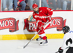Wisconsin Badgers Tyler Barnes (7) skates during an NCAA hockey game against the Alabama Huntsville Chargers at the Kohl Center in Madison, Wisconsin on October 15, 2010. The Badgers won 7-0. (Photo by David Stluka)