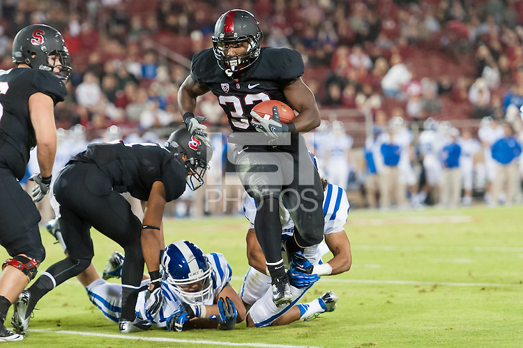 STANFORD, CA - SEPTEMBER 8, 2012: Stepfan Taylor during the Stanford Cardinal 50 - 13 win over Duke.