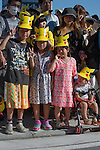 Children at the Pikachu Parade on August 7, 2016 held during the weeklong Pikachu Breakout event in the Japanese port town of Yokohama, nearby Tokyo.<br /> <br /> Photo by DUITS/AFLO