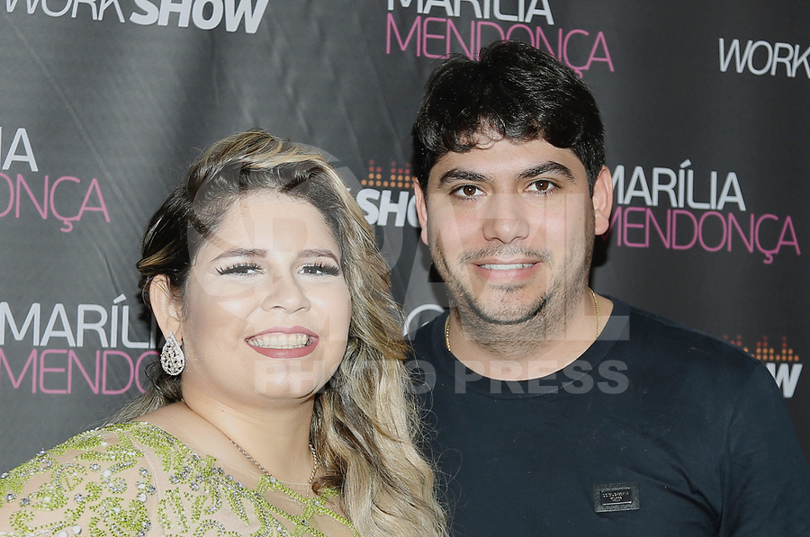 SÃO PAULO, SP, 28.07.2017 - SHOW-SP -  Marília Mendonça e o noivo durante apresentação de show no Citibank Hall na noite desta sexta-feira, 28. (Foto: Adriana Spaca/Brazil Photo Press)