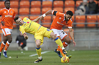 Blackpool's Liam Feeney in action with Bristol Rovers' Ollie Clarke<br /> <br /> Photographer Mick Walker/CameraSport<br /> <br /> The EFL Sky Bet League One - Blackpool v Bristol Rovers - Saturday 3rd November 2018 - Bloomfield Road - Blackpool<br /> <br /> World Copyright © 2018 CameraSport. All rights reserved. 43 Linden Ave. Countesthorpe. Leicester. England. LE8 5PG - Tel: +44 (0) 116 277 4147 - admin@camerasport.com - www.camerasport.com