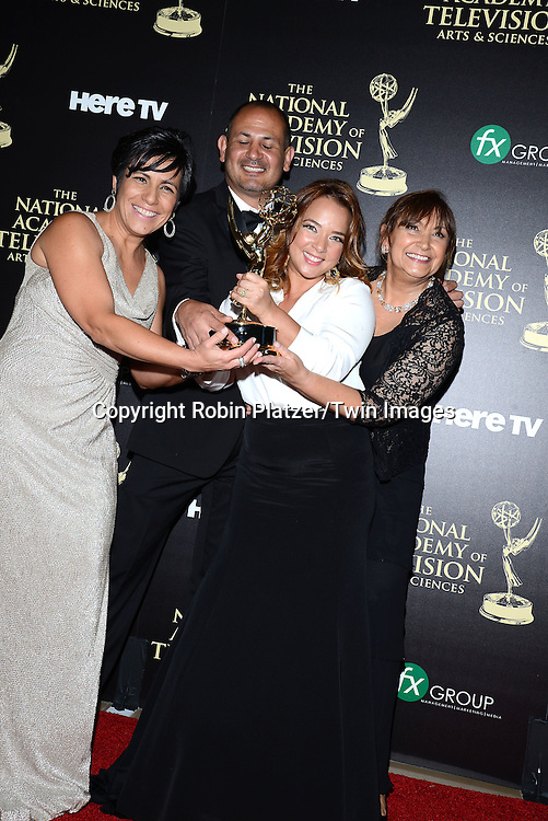 Un Nuevo Dia for best Spanish Morning Talk Show attends the press room at  the 41st Annual Daytime Emmy Awards on June 22, 2014 at the Beverly Hilton Hotel in Beverly Hills,California.<br /> <br /> photo by Robin Platzer/ Twin Images<br /> <br /> 212-935-0770