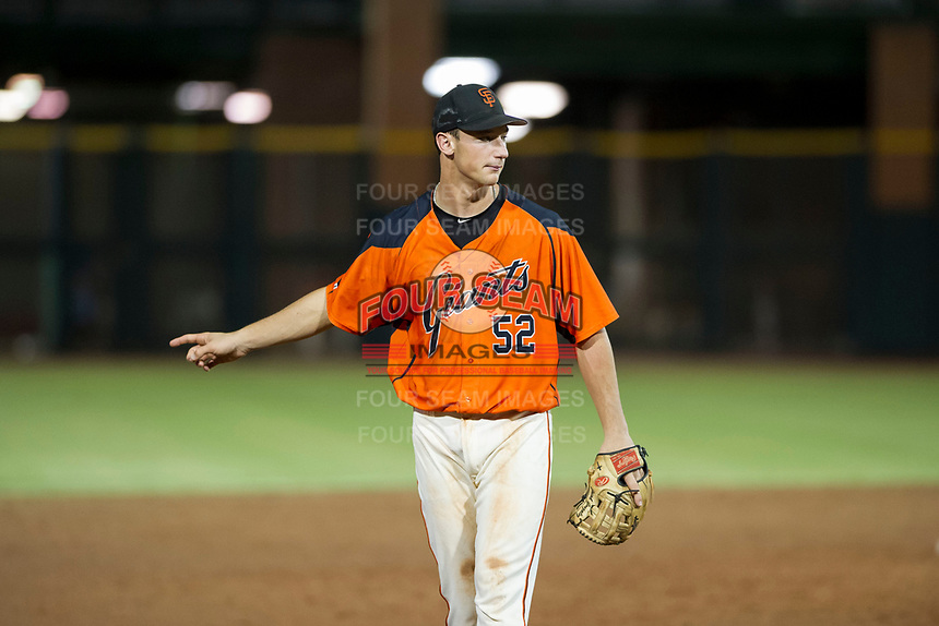 AZL Giants third baseman Jacob Gonzalez (52) on defense against the AZL Padres 2 on July 13, 2017 at Scottsdale Stadium in Scottsdale, Arizona. AZL Giants defeated the AZL Padres 2 11-3. (Zachary Lucy/Four Seam Images)