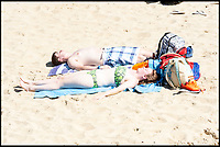 BNPS.co.uk (01202)558833<br /> Pic:   RogerArbon/BNPS<br /> <br /> Brits head to the beach in Bournemouth, ahead of what is predicted to be the hottest bank holiday on record.
